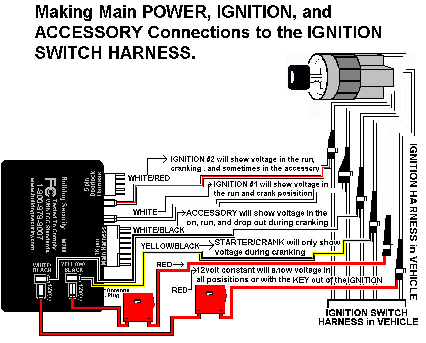 bulldog remote car starter diagram connecting t harness to onboard relays  connecting t harness to onboard relays