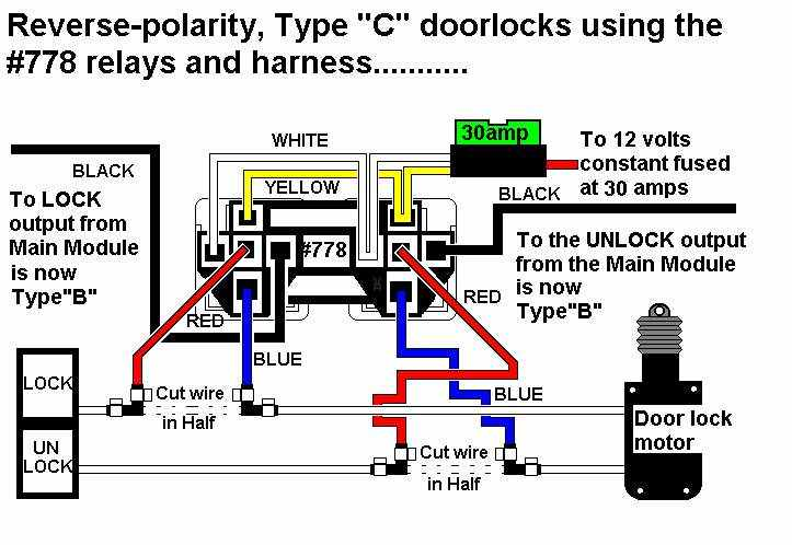 778 RELAY for TYPE C DOOR LOCKS DIAGRAMJPG 5 wire door lock relay diagram aftermarket car lock diagram aftermarket keyless entry wiring diagram at gsmx.co